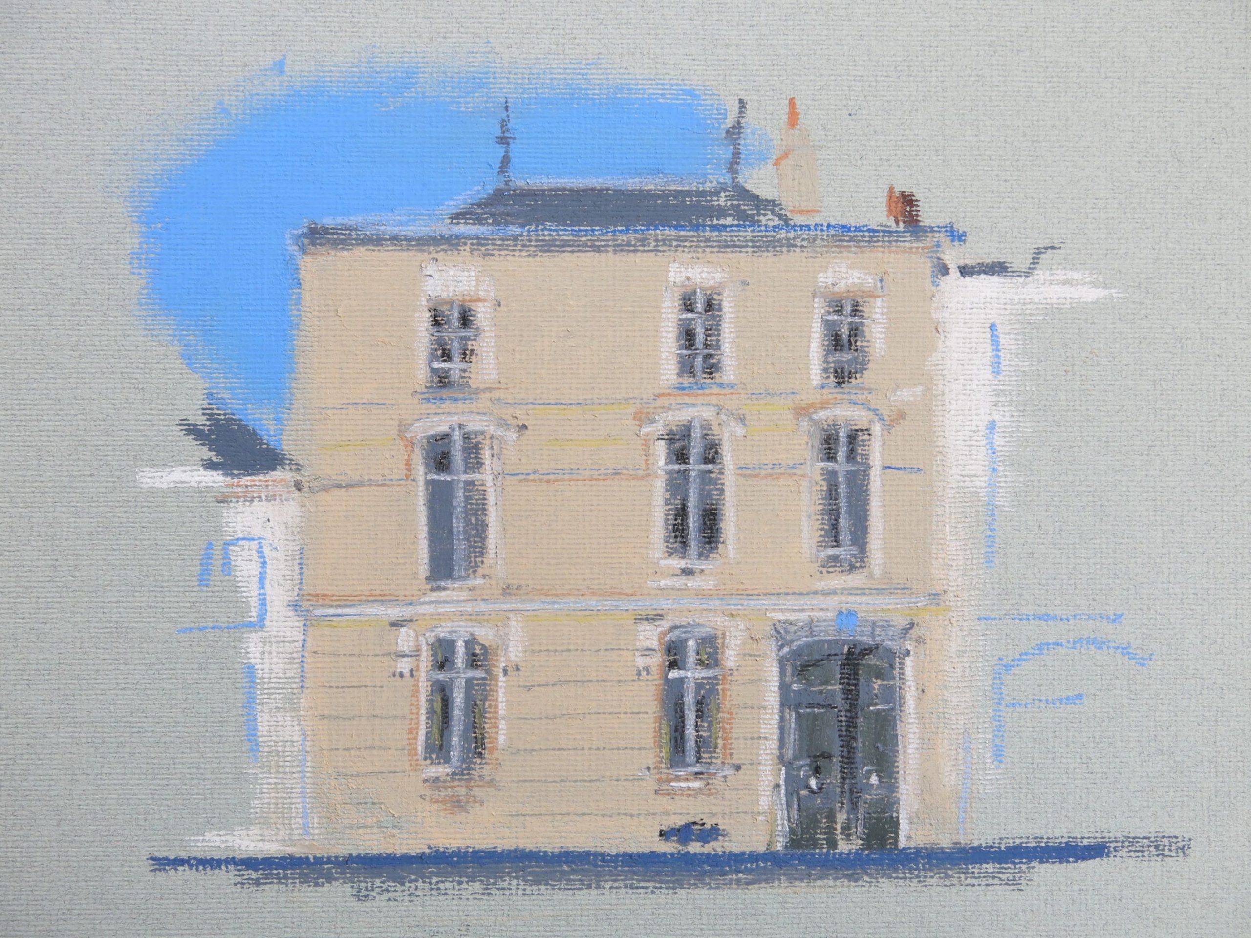Un aperçu de la façade de la Maison de Saumur, maison d'hôtes de caractère, proche du centre ville de Saumur.