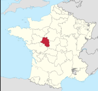 situer la Touraine sur la carte de France